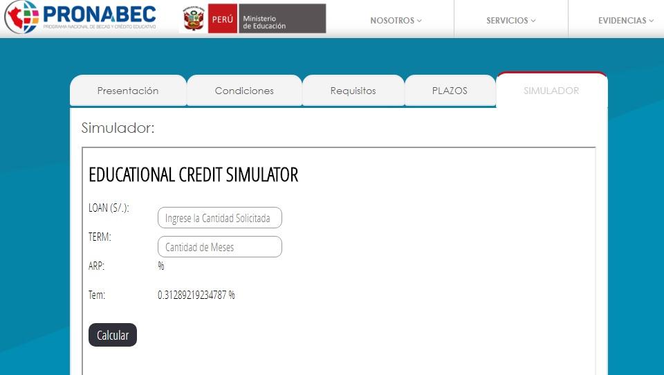 PRONABEC Simulador