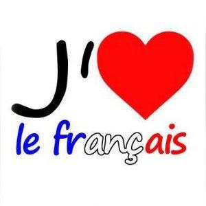 J aime le francais - coeur